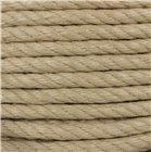 Corde chanvre synthétique polypropylène texturé havane 8 mm par 100 m pour déco gréement rampe