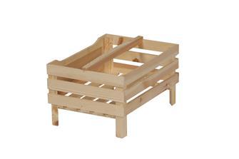Caissette de stockage en bois avec anse