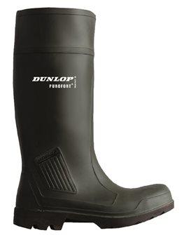 Bottes de pluie et travail de sécurité Dunlop T40 vertes étanches résistantes et isolées