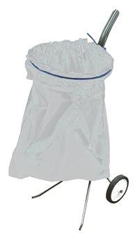Porte sac poubelle sur chariot pour jardin et voirie