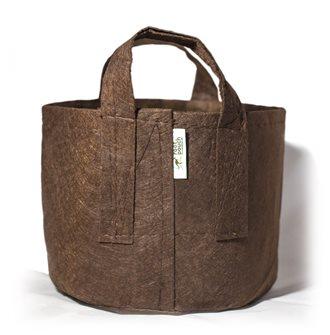 Pot géotextile à poignées marron 30 litres