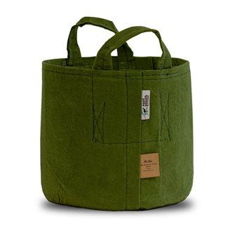 Pot géotextile à poignées vert olive 18 litres