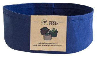 Pot géotextile ultra résistant bleu marine spécial succulentes 21x7,62 cm 1 litre