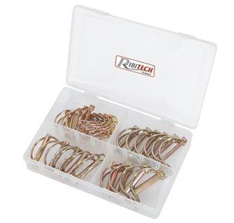Goupilles clips tubes par 25 avec 4 dimensions